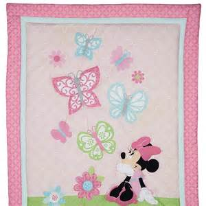minnie mouse butterfly charm 4 piece crib bedding set disney baby