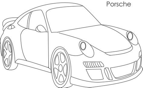 simple coloring pages of cars simple car super car porsche coloring page for kids