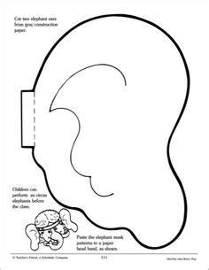 orejas de elefante para colorear elephant ear pattern use the printable outline for crafts