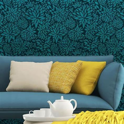 Tree Stencil For Wall Mural romantic floral damask stencil flower pattern by bonnie