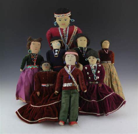 Handmade Indian Dolls - 8 handmade american dolls