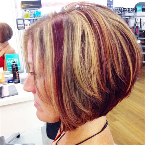 blonde bob pink highlights 50 best images about hair on pinterest
