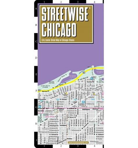streetwise chicago map laminated city center map