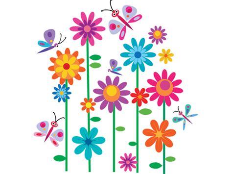 imagenes de flores animadas infantiles vinilo infantil flores y mariposas de colores