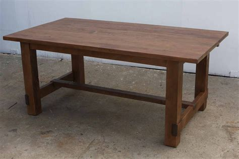reclaimed wood vs new wood new england farm table this table is shown with 2 18