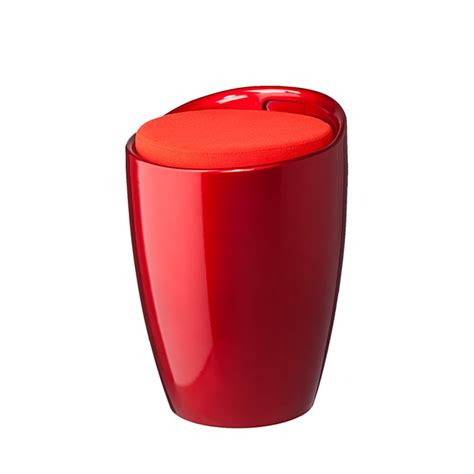 hocker rot hocker sitzhocker rot hochglanz kunststoff polsterhocker