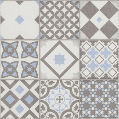 Vibe Light Blue Mosaic Patterned Wall and Floor Tiles