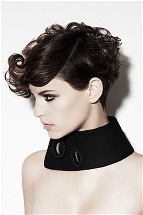 short punk haircuts for curly hair cute glam punk short hair styles