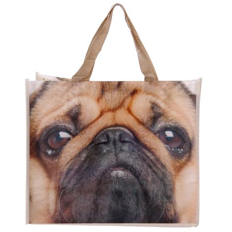 pug shopping pug design shopping bag 15828 puckator ltd