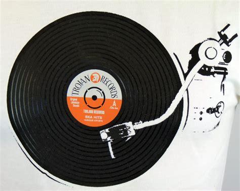 Tshirt Trojan Exclusive lambretta trojan record player retro mod northern soul