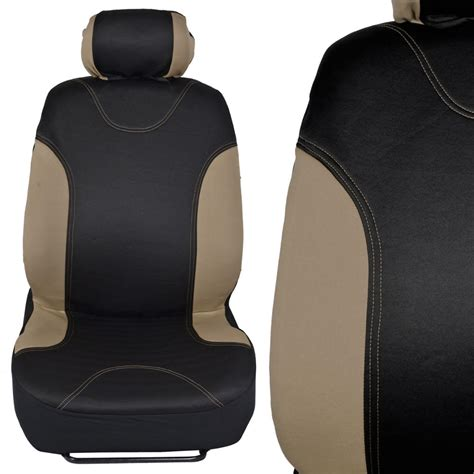 cloth car seat covers black beige cloth car steering wheel cover and seat