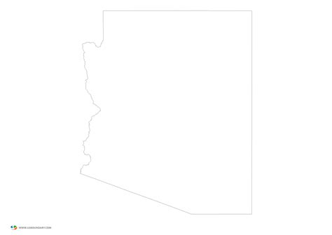 arizona state map outline pin free printable connecticut outline map on