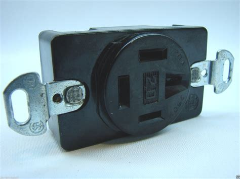 hubbell hbl7250 4p 4w receptacle 120v 208v 20a 3 phase