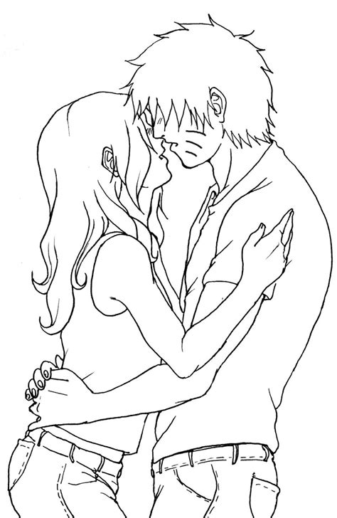 sketches of people kissing coloring pages