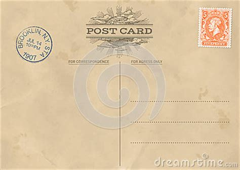 Vector Vintage Postcard Template Stock Vector Image 41536769 Retro Postcard Template