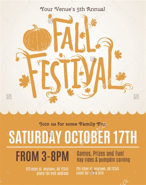 28 Festival Flyer Free Psd Ai Vector Eps Format Download Free Premium Templates Fall Festival Invitation Templates