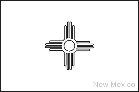 new mexico state flag coloring pages usa for kids