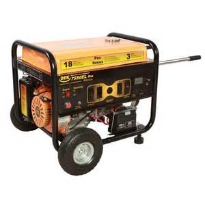 home depot generators dek pro series 10 000 watt commercial duty generator with