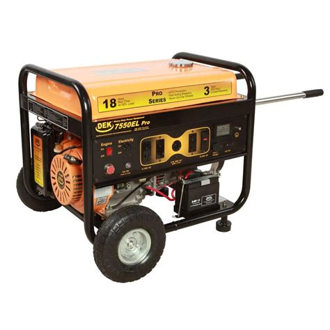 dek pro series 10 000 watt commercial duty generator with
