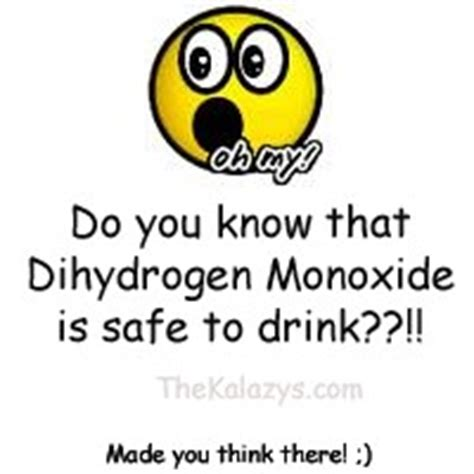 dihydrogen monoxide funny funny chemistry quotes quotesgram