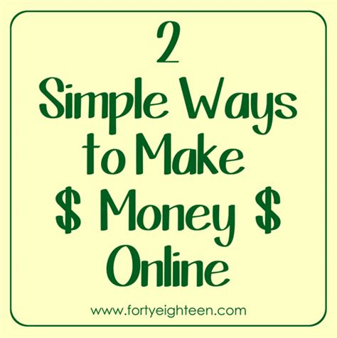 Easy Ways To Make Money Online From Home - simple ways to make money making quick money