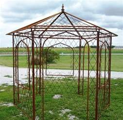 Iron Gazebo Wrought Iron Flower Arbor Garden Gazebo Trellis Metal