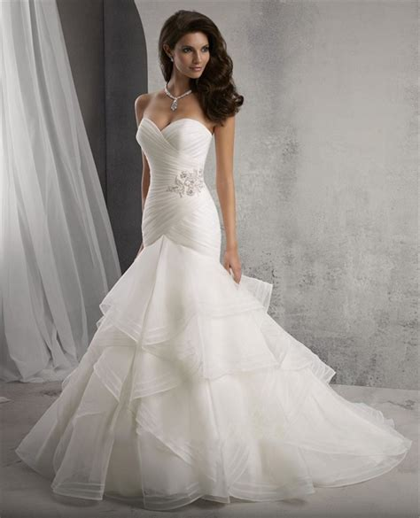 Handmade Wedding Dresses - 2015 mermaid wedding dress sweetheart sleeveless bridal