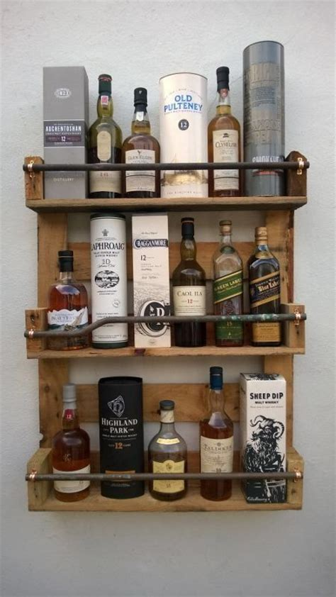 whisky rack shelf upcycled pallet crate handmade
