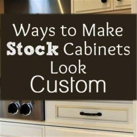 how to make custom kitchen cabinets make stock cabinets look custom kitchen makeover tip
