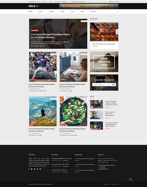 Piple Search Piple Wifi Business And Multipurpose Psd Template By Psd2allconversion