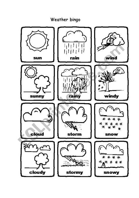 Weather Exercises Printable