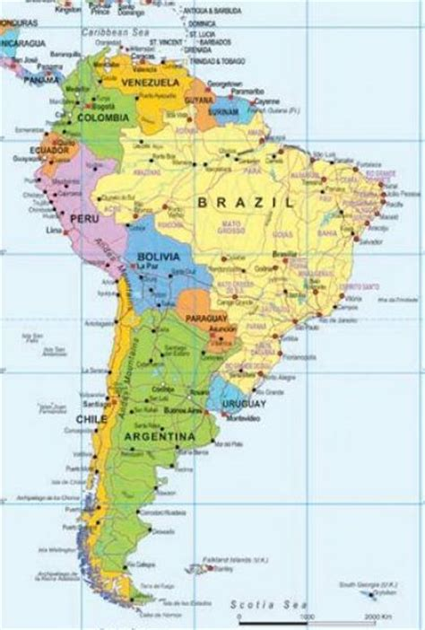 south america major cities map map of major cities in the south pictures to pin on