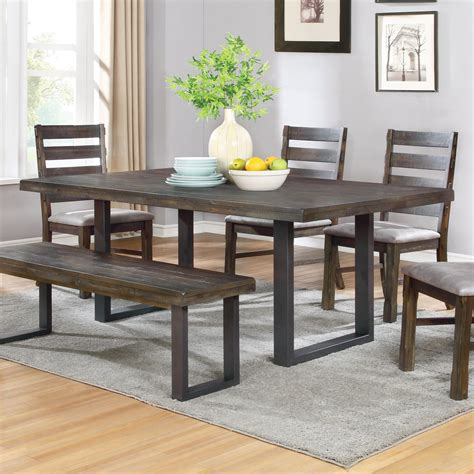 dining room furniture madison wi a1 furniture mattress coaster murphy rustic dining table with u shaped base a1