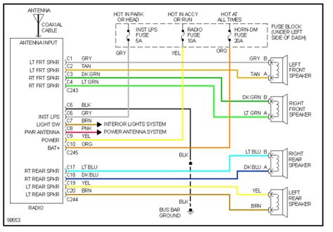 2005 chevy silverado bose wiring diagram wiring diagram