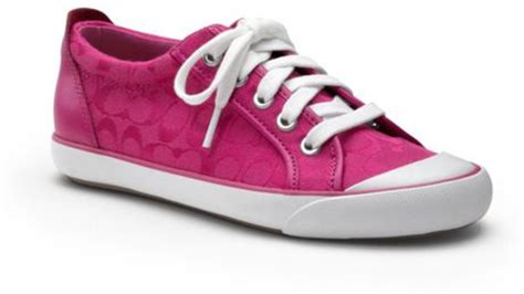 pink coach sneakers coach barrett sneaker in pink fuchsia lyst