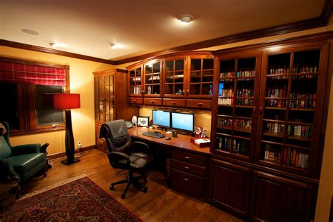 home office pics sophisticated home study with a dual monitor workstation