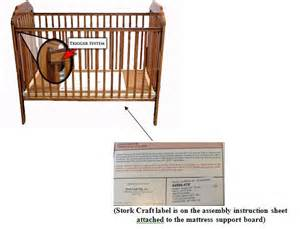 Baby Crib Mattress Support Infant Entrapment And Suffocation Prompts Stork Craft To Recall More Than 2 1 Million Drop Side