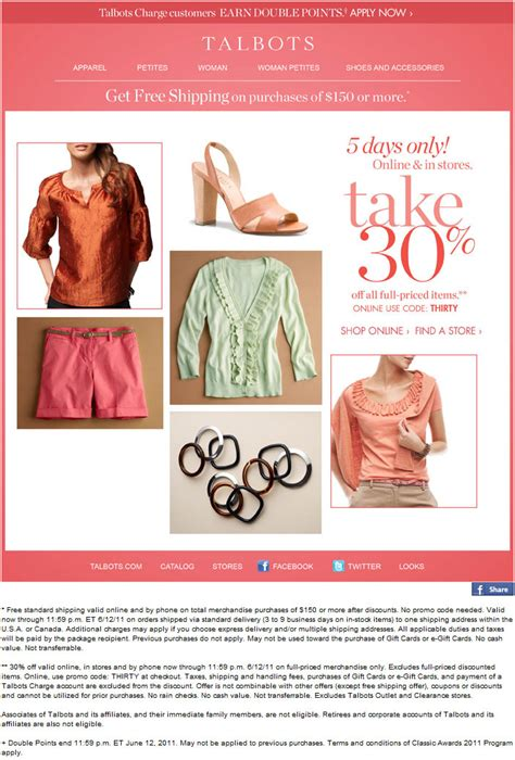 printable coupons talbots outlet talbots outlet 30 off printable coupon