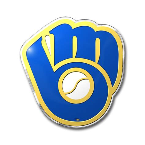 brewers colors milwaukee brewers color emblem car or truck decal team