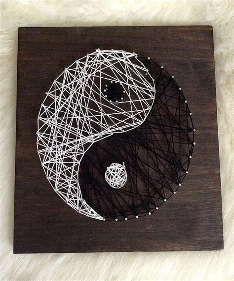String Wall Decor - all things lovely diy yin yang string wall home