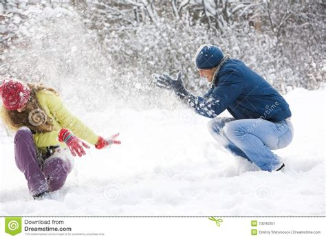 Cabins Plans snow play stock image image 13240351