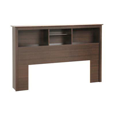 bookcase style headboards prepac furniture platform storage full queen bookcase