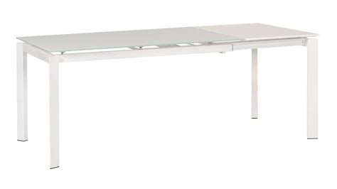 Dining Table Glass Extension Eikki Frosted Glass Extension Dining Table White Zuri