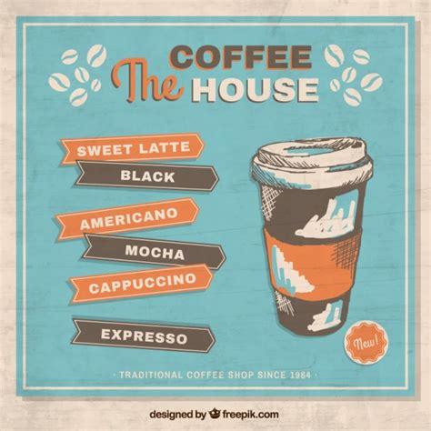 Plakat Quellenangaben by Retro Kaffee Plakat Der Kostenlosen Vektor