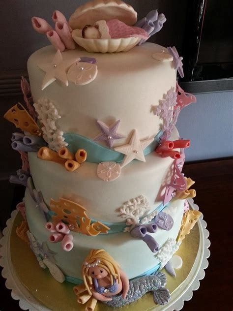 What Year Was The Shower Invented by The Sea Themed Baby Shower Cake Cakes