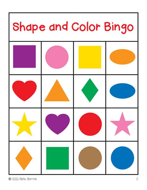 printable shapes colors pin shapes flashcards color and shape bingo printable game