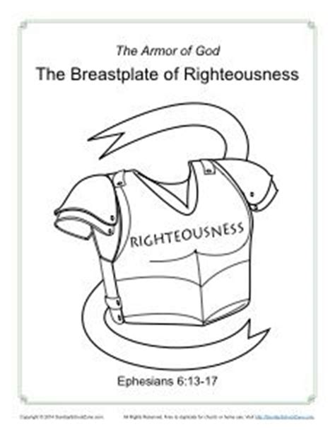 breastplate of righteousness template 93 best images about children s bible coloring pages on
