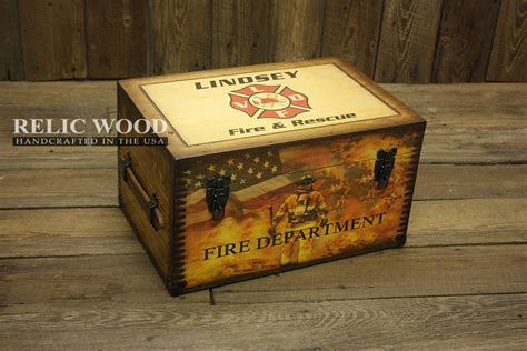custom gifts personalized fire department gifts wooden keepsake box