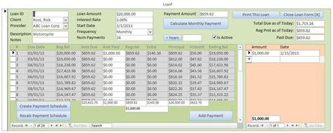 Microsoft Access Loan Amortization Seminar LoanTemplate