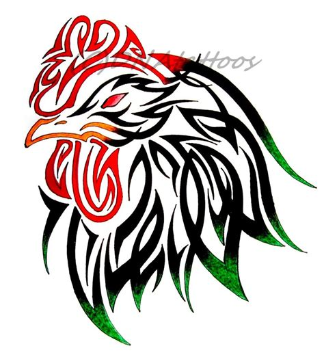 tribal rooster tattoo designs rooster tribal by weedenstein on deviantart
